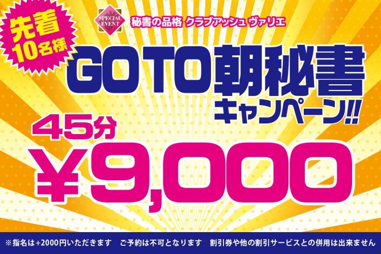 GO TO 秘書!平日の早朝は45分9000円!!