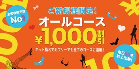エテルナ 木屋町・祇園 デリヘル ご新規様に朗報!オールコース1,000円引きです!の割引クーポン